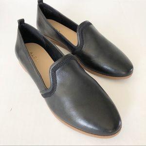 Aldo Black Flat Women Leather Shoes